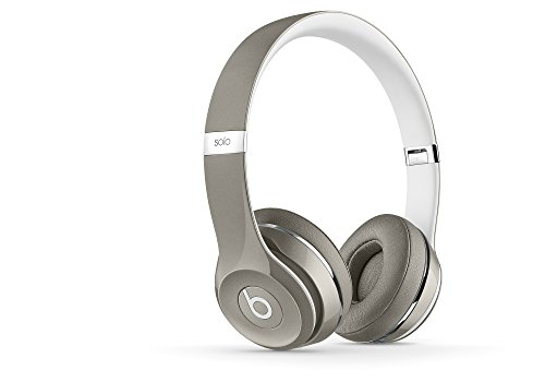 Beats Solo2 Wired On-Ear Headphone, Luxe Edition - Silver (Beats Wireless Over Ear)
