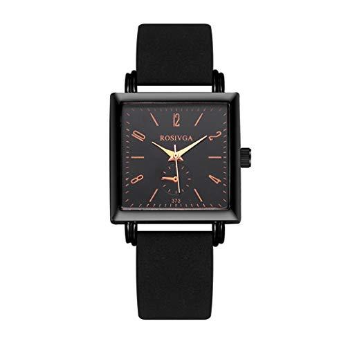 Becoler Store 2020 Womens Square Dial Wrist Watch, Casual Quartz Watch Analog Quartz WatchBlack Gifts