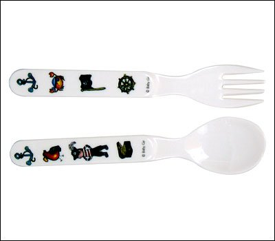 入園入学祝い Baby Cie Fork & Spoon Cie - - by Pirate - Black by Baby Cie B000PJCFNG, 豆の専門店 豆の水野:25f94a16 --- a0267596.xsph.ru