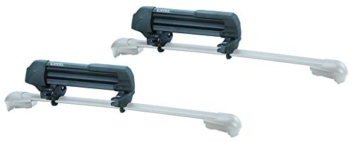 INNO INA952 Gravity Universal Mount (Fits Rounds, Square, Aero and Most Factory Bars) Holds - (3) Fat Ski or (2) Snowboards Roof Rack