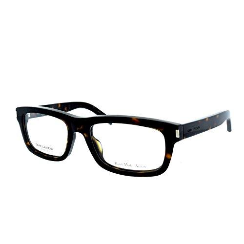 Yves Saint Laurent Yves 1 Eyeglasses-0086 Dark Havana-52mm by Yves Saint Laurent