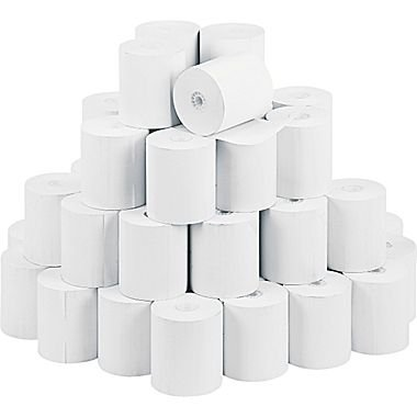 "50 Rolls 3"" x 165' 1-Ply Bond Receipt Paper POS Cash Register Made in USA from BuyRegisterRolls"