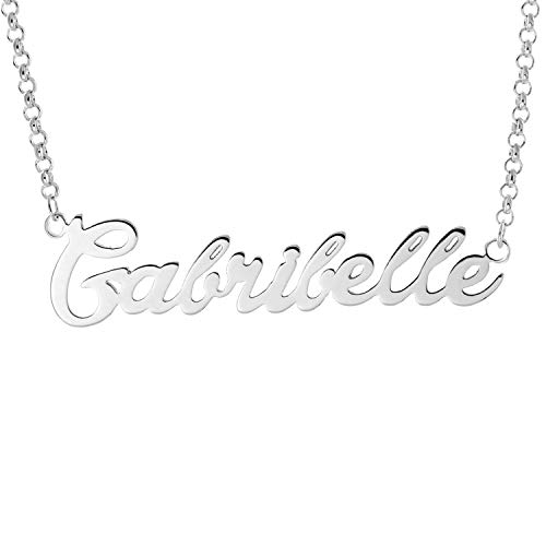 Daruirong 925 Sterling Silver Personalized Name Necklace Pendant Custom Made with Any Names -Gabribelle ()