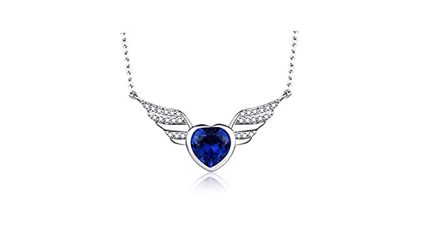 MMC Silver Pendants Sapphire Wedding Jewelry Necklaces for Womens