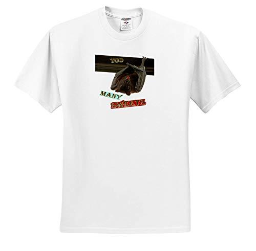 Sandy Mertens Halloween Designs - Bat Hanging Upside Down Too Many Sweets Halloween, 3drsmm - T-Shirts - Toddler T-Shirt (3T) -