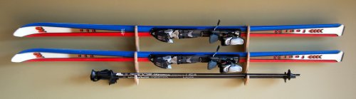 Grassracks Bamboo Ski Rack for 1 or 2 Pairs of Skis Hallsteiner Show Off