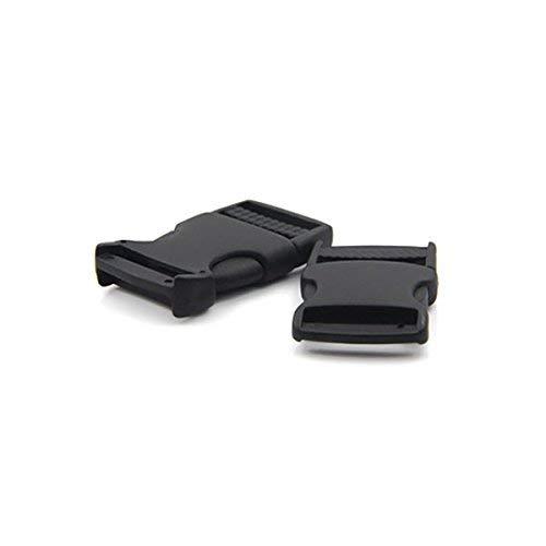40 mm 40mm Xhuan Boucle /à d/éclenchement lat/éral Rapide en Plastique Noire pour Sac /à Dos de Voyage Lot de 6 Noir