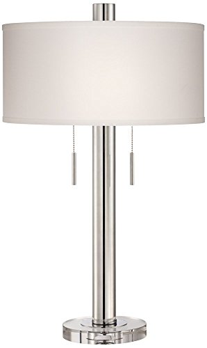 Price comparison product image Possini Euro Hugo Chrome Crystal Column Table Lamp