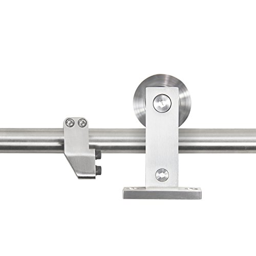 10ft Heavy Duty Sturdy Sliding Barn Door Hardware Kit - Super Smoothly and Quietly - Simple and Easy to Install - Includes Step-by-Step Installation Instruction -Fit 60'' Wide Door Panel by SMARTSTANDARD (Image #2)