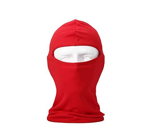 NANSI Lycra Fabrics Ultra-Thin Ski Face Mask Motorcycle Cycling Bike Warm Balaclava Bandana Hiking Skateboard Hood(red) -
