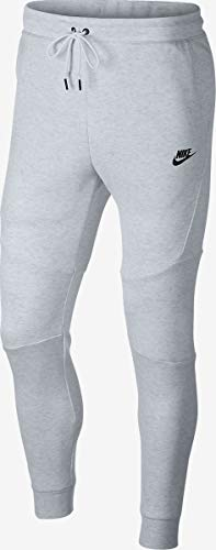 NIKE TECH Fleece Jogger - Men's (XL, Birch Heather/Black/Black)