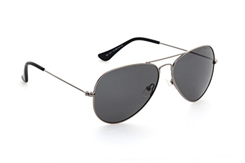 DESPADA Made In ITALY Classic Polarized Aviator Sunglasses for Men and Women UV400 Protection ds1231C4 (Silver, Grey)