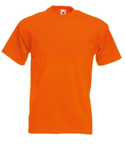 Fruit of the Loom Super Premium T-Shirt Orange 2XL XXL,Orange
