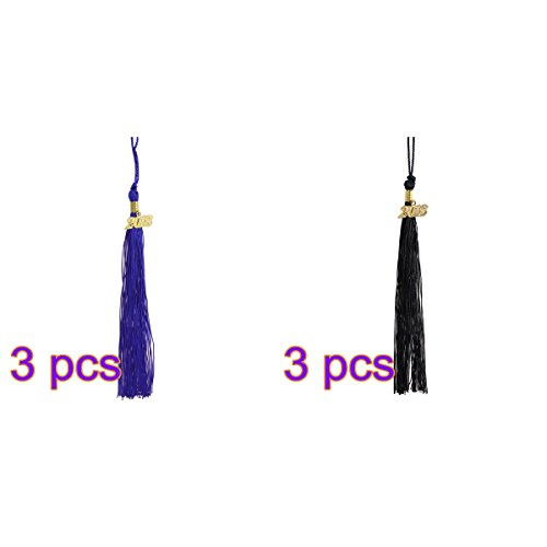 LUOEM Graduation Tassel Year 2018 Class of 2018 Academic Graduation Gown Tassels for Graduate Ceremony,6 Pack