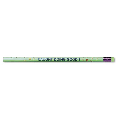 - Moon Products 7898B Decorated Wood Pencil, Caught Doing Good, HB #2, Green BRL, Dozen