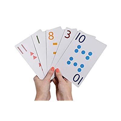 edx Education School Friendly Playing Cards - Jumbo Size - Set of 56 - Multicolored Patterned Cards Numbered 0-13 for Gameplay - Teach Number Concepts, Counting, Matching and Probability: Computers & Accessories