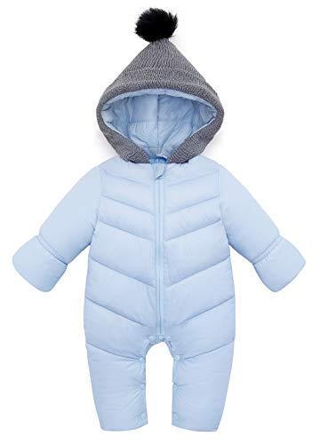 AUBIG Baby donspak sneeuwpak jongens meisjes winter baby winter overall met capuchon verdikt warm 0-18 maanden