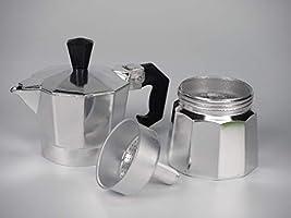 Blíster Asa para Cafetera italiana 3-6 tazas aluminio | Mango ...