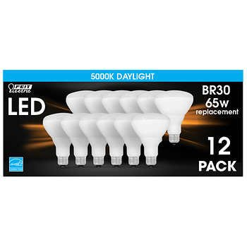 Feit Electric LED BR30 Flood Daylight 12-pack