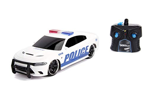 Jada Fast & Furious Chase Twin Pack- Dom's Dodge Charger R/T & Dodge Charger SRT Hellcat, Police & Chase Car Rc, USB… 3