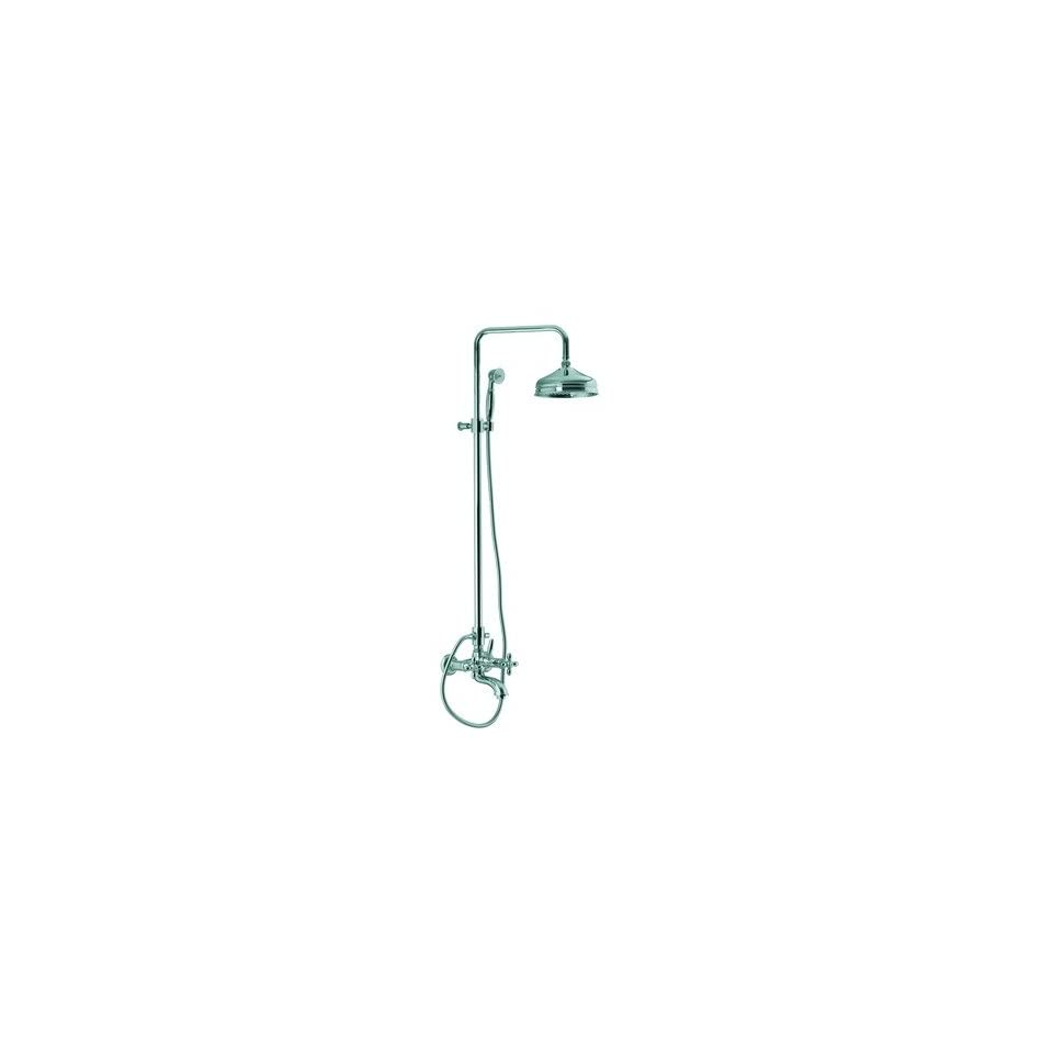 Olivia Wall Mount Thermostatic Tub and Shower Faucet with Hand Shower Finish Chrome