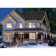 Holiday Time 300-count Icicle Christmas Lights, Clear With White Wire (Icicle Bulb Clear)