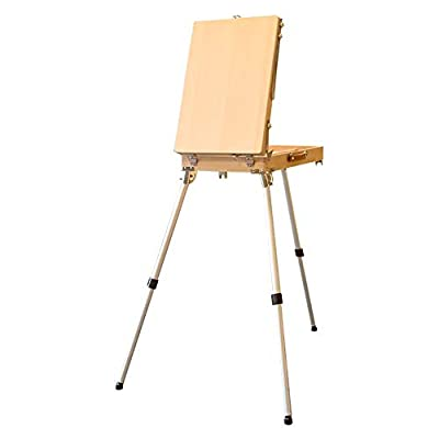 Easel Sketch Wood Picture Box Foldable Wooden Portable Painting Shelf Activity Display Rack