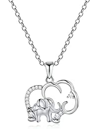 Horse Elephant Gifts for Women Girls, 14K Gold Plated Cubic Zirconia Elephant Horse Pendant Necklace for Women Girls Kids Jewelry Gifts, Mothers Day Valentines Gifts for Mom Daughter Friend Grandma