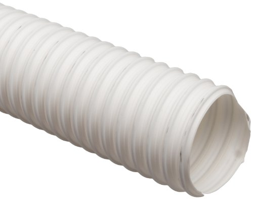 Thermoplastic Rubber Hose - Flexadux T-7 Thermoplastic Rubber Duct Hose, White, 5
