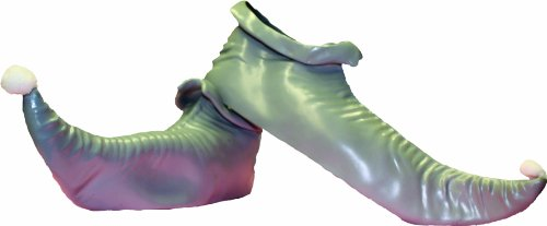 Fairy Shoes (Alexanders Costumes Elf Shoes, Silver, One Size)