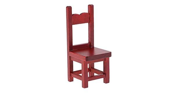 1//12 Miniature Dollhouse Wooden Rocking Chair Model White N8U2