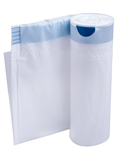 Medokare Commode Liners Pail Bags - with Super Absorbent Pad, 24 Medical Grade Disposable Potty Liners, Bedside Commode Liners, Sanitary Bags for Adult Commode Chair Bucket Or Bedside Toilet Liners by Medokare (Image #2)