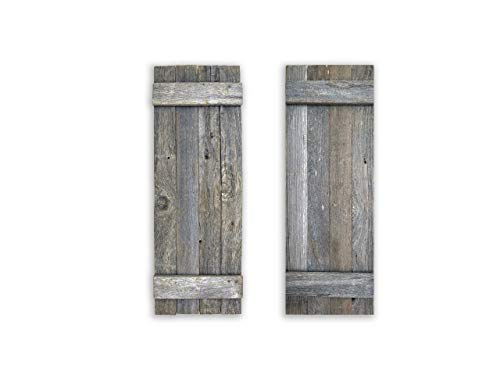 - Rustic Decorative Barn Wood Shutter Set Of 2 For Wall Decor, Window Accents - Add That Touch of Barn Wood Style and Rustic Decor To Any Room - Great for Home Decor, Rustic Decor and Rustic Accents