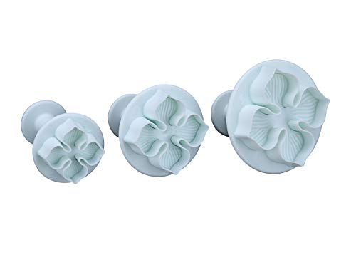 Rienar 3pcs Hydrangea Flower Fondant Cake Decorating Sugarcraft Plunger Cutter DIY Mold price tips cheap