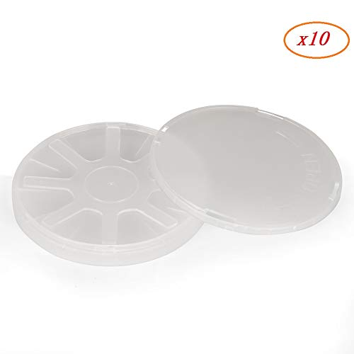 Silicon Wafer Box - 4 inch Single Wafer Carrier Box,including Container, Cover & Spring,10 pack
