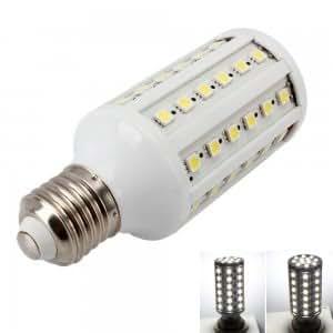 E27 12W 60 LED 572 Lumen 6000K Pure White Corn Light Bulb (110V)
