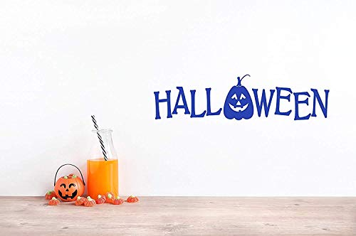 Quote Halloween Pumpkin Jack O Lantern Art Happy Removable Art Wall Decals Decor Vinyl Sticker Q6114