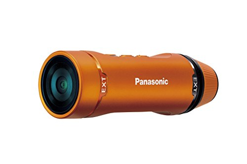 Panasonic A1: Ultra-Light Wearable HD Action Cam - HX-A1MD (Orange)
