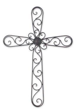 Wrought Iron Wall Cross ()