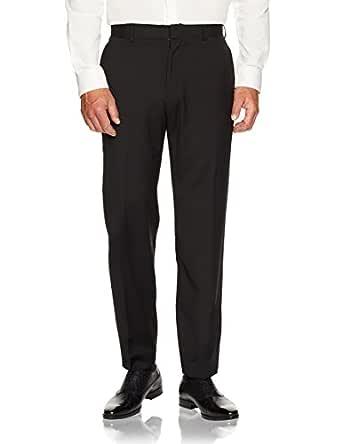 Van Heusen Men's Classic Fit Trouser, Black, 102 Regular