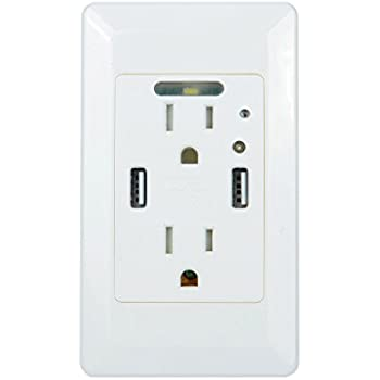 Greencycle High Speed Usb Charger Wall Outlet 15 Amp