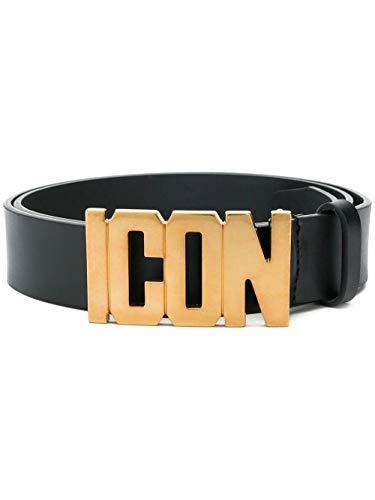 (Dsquared2 Men's Bem009912900001m1042 Black Leather Belt)