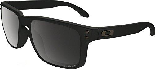 Oakley Men's Holbrook (a) Polarized Iridium Rectangular Sunglasses, Matte Black, 56.01 - Polarized Matte Black Holbrook Oakley