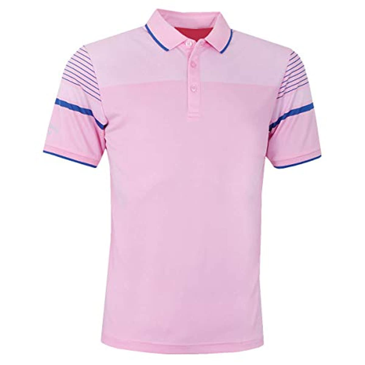 [해외] CALLAWAY 골프 2019 BIRDSEYE OPTI-DRI 반소매 맨즈 골프 폴로 셔츠 L
