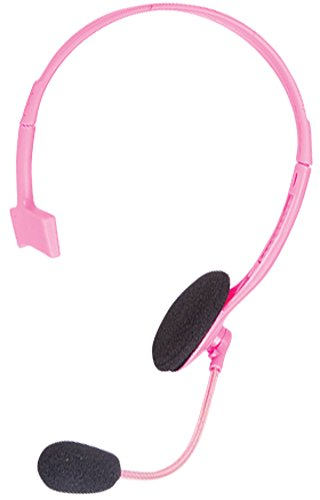 Pop Singer Telemarketer Pit Crew Microphone Headset Costume Accessory Pink -