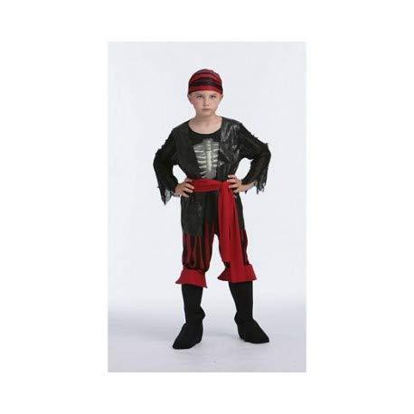 DISFRACES GILMAR Disfraz Pirata Esqueleto Infantil - 7-9 años ...
