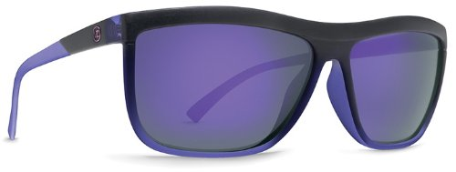 VonZipper Luna Square Sunglasses,Black, Purple & Pow Pow,One - Luna Eyewear