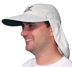 Large Brim Hat / Cap with Removable Back Flap (acc224) Adjustable Velcro Back Closure