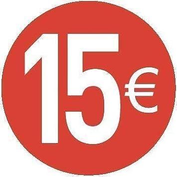 Sticker Rot 13 mm runde Punkt Aufkleber in verschiedenen Farben Gr/ö/ße 1,3 cm Durchmesser Klebepunkte 1080 Vorteilspack von Royal Green