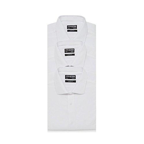 The Collection Herren Business-Hemd weiß weiß Einheitsgröße